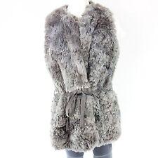 DIXIE Weste Gr M / 38 Grau Kunst Fell Warm Fake Fur NP 180,- NEU