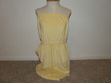 Womens swimsuit coverup Yellow Swim Suit cover up Beach cover up size M New