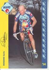 CYCLISME carte cycliste CARLO BOMANS équipe MAPEI  1996 signée