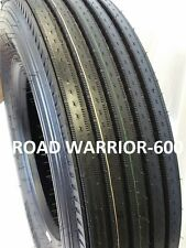 11R24.5 (2-TIRES) ROAD WARRIOR STEER TIRES NEW HEAVY DUTY 16 PLY