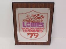 "Vintage 1979 Lowes World Karting Olympics Plaque - Wka Go-Kart 15-1/4"" x 12-1/4"""