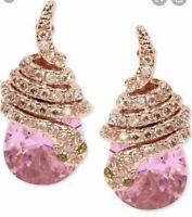 "Betsey Johnson ""spring Critters"" cubic zirconia snake wrap drop earrings B8a"