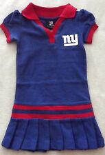 TODDLER GIRLS SIZE 2T NFL NEW YORK GIANTS FOOTBALL LEATED SKIRT POLO DRESS NWT