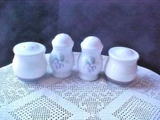 Pfaltzgraff Salt & Pepper Shakers Grape and Line Pattern No Corks Lot of Four