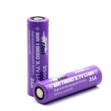 2 GENUINE EFEST 18650 BATTERY LI-MN PURPLE IMR HIGH DRAIN 2500 MAH 35 AMP