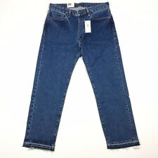 Levis Made And Crafted Mens Rail Straight Jeans Size 32 x 28 Cropped Blue $178
