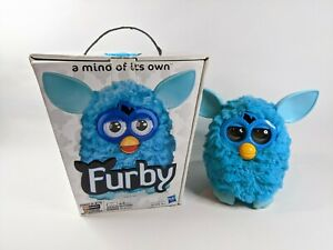 Furby Interactive Toy Pet Hasbro Light Blue with Box TESTED WORKING RARE HTF