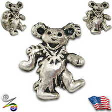 Hippy Grateful Dead Head Dancing Bear Hippie Backpack Lapel Hat Tie Pin Button
