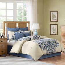 4-Pc Harbor House St Tropez King Comforter Set Beige Blue Floral Damask Toile
