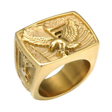 Ring Valentine'S Day Gift Size 12 New Men'S Fashion Gold-Plated Personality Punk