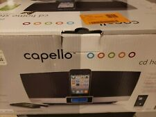 CAPELLO - CD HOME STEREO WITH DOCK AND FM RADIO, WIRELESS REMOTE, iPOD, iPHONE