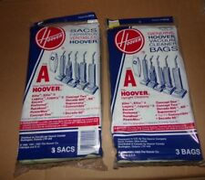 NEW Nos Genuine HOOVER Type A Upright Vacuum Cleaner Bags 2 Pk 3 Bags Ea= 6 4010