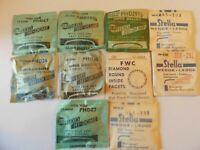 10 Vintage Hi-Dome G&S & Stella ROUND Plastic Wrist Watch Crystals NOS Lot# Q127