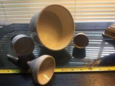 Lot of (4) Porcelain Buchner Filter Funnels Coors-Tek / Fisher