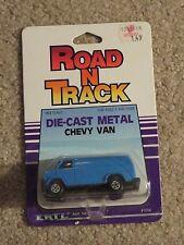 ERTL Die-cast Road N Track Chevrolet Chevy Van Blue #1056 1:64 Scale MOC 1986