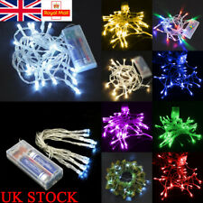 UK LED Lights Lamp 40LED 4M Battery Powered Fairy Lamp Outdoor Garden Decoration