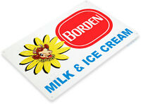 TIN SIGN Borden Milk & Ice Cream Sign Kitchen Farm Cottage Store A020