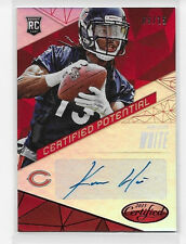 2015 15 LEAF CERTIFIED KEVIN WHITE CERTIFIED POTENTIAL RED ROOKIE AUTO 9/15