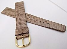 "DAX,18mm,R,50's,NOS FRENCH,""Genuine Lizard"" Blonde/Tan,MEN'S WATCH BAND,B18-46"