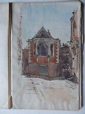 Sir Reginald Blomfield RA 1856-1942 Rare Original signé dessin/peinture Livres