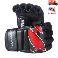 MMA UFC Boxing Gloves Sparring Grappling Fight Punch Bag Mitts Leather Training