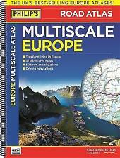 New, Philip's Multiscale Europe: Spiral A3 (Road Atlas Europe), Philip's Maps, B