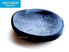 Black Tourmaline Amulet Gemstone Thumb Palm Chakra Healing Therapy Worry Stone