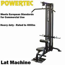 POWERTEC Lat Machine Lat Pulldown P-LM16 Machine Seated Row Home Gym