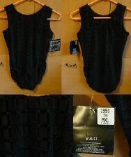 NEW GK Elite Sportswear black leotard with design Women AXL Adult