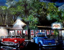 Hand Signed Limited Edition 57 Thunderbird at the Ranch House Cafe Olancha, Ca