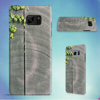 GREEN LEAF ON GRAY WOODEN FENCE HARD CASE FOR SAMSUNG GALAXY S PHONES