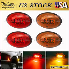 4pcs Red&Amber Dually Bed Front Rear Side Fender LED Light for Ford 99-10 F350