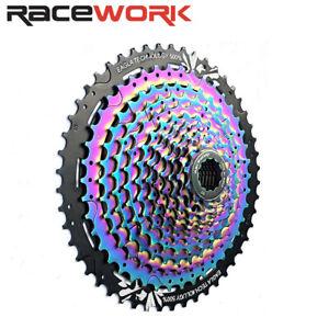 Racework 12 Speed MTB Bike Cassette W/11-50T Rainbow flywheel For SRAM/Shimano