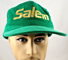 Vintage 1980s Salem Green Corduroy Cap Hat Snap Back Trucker
