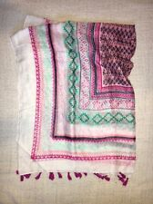 White Pink & Turquoise Aztec Print Atmosphere At Primark Light Tasseled Scarf