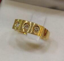 ANELLO   oro giallo con brillanti 0,18 KT  oro 750   Gr. 4.00