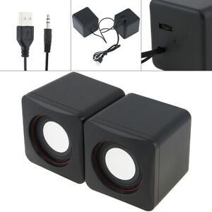 USB Speakers 3.5mm Stereo Jack and USB Powered for PC / Laptop / Smartphone 101Z