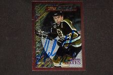 HOF ADAM OATES 1996-97 TOPPS FINEST SIGNED AUTOGRAPHED CARD #43 BOSTON BRUINS