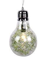 lampadario sospensione a forma di lampadina Ø 22 design moderno acciaio cromato
