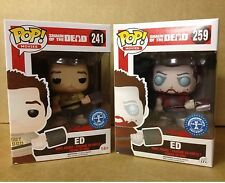 FUNKO POP! Shaun Of The Dead BLOODY ED & ZOMBIE ED Exclusive Vinyl Figures NEW