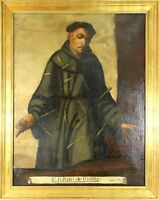 F3-016. SAN JUAN DE PADILLA. OIL ON CANVAS. COLONIAL SCHOOL. XVII CENTURY