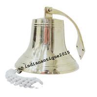 8'' Nautical Brass Ship Bell Wall Nautical Maritime Home Decor Bell