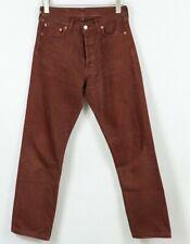 Levis 501 Jean Rouge Bordeaux Standard Droit Taille Hommes W30 L30