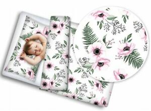 Baby Bedding Set For Crib 120x90cm Cot Toddler Bed Duvet Covers Set Wild Flowers