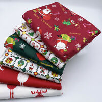 6X Christmas Cotton Fabric Patchwork Santa DIY Clothing Sewing Tissue Quilting