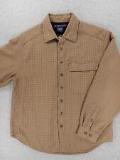 Ex Officio Long Sleeve Button Down Shirt (Mens Medium) Brown