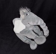 "8"" 2007 DR SEUSS HORTON GRAY ELEPHANT STUFFED ANIMAL PLUSH MANHATTAN TOY SOFT"