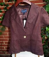 NEW with Tags BANANA REPUBLIC Short Sleeve Cotton Jacket Womens Size 0 Small XS