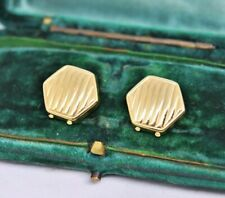 Vintage 18ct gold Cufflink Button covers Art Deco Peaky Blinders 3.70g #R238