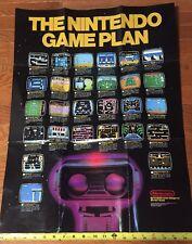 Nintendo Game Plan Large Size Original Classic Nes Poster Retro Video Games